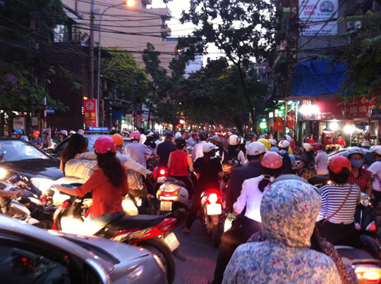 The crazy traffic of Hanoi