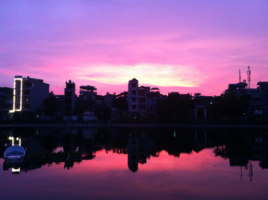 Sunset over Hoan Kiem Lake, Hanoi