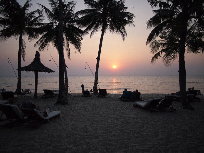 Phu Quoc Island Sunset on Long Beach