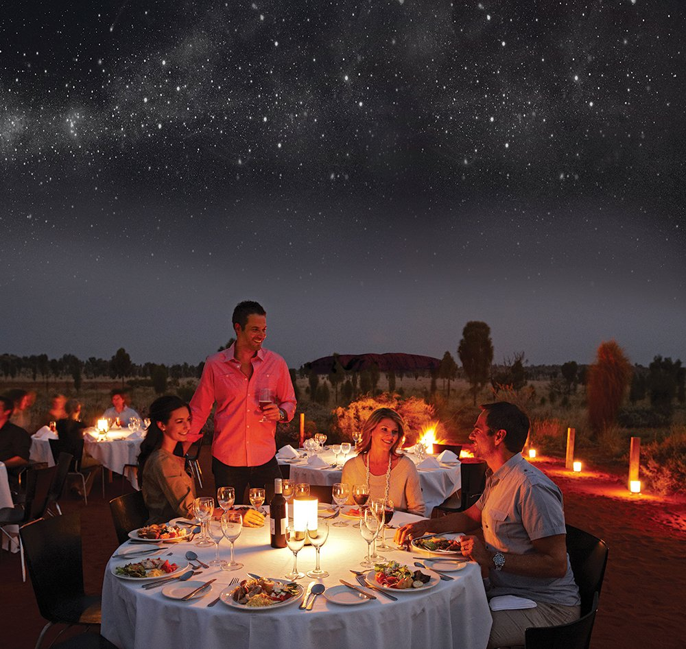 Dining under the stars with Sounds of Silence.
