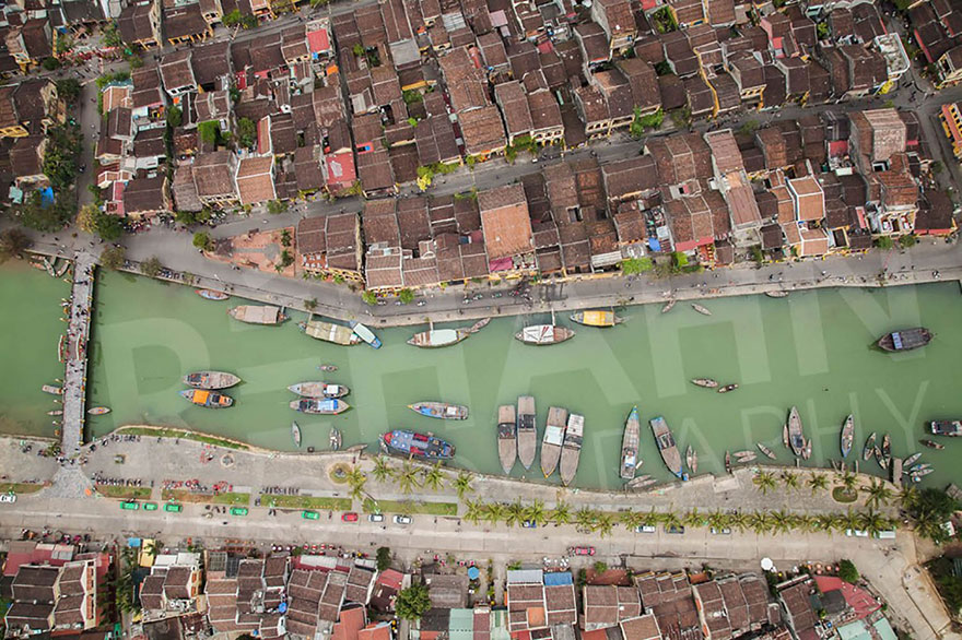 View of Hoi An from the sky