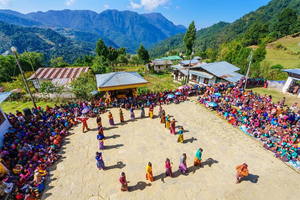 Khaling festival in eastern Bhutan.