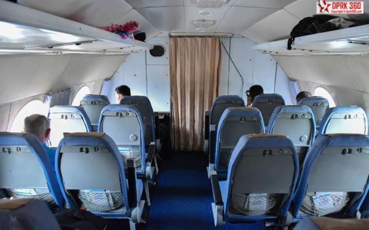 Cabin interiors of an Air Koryo aircraft. Credit: ARAM PAN
