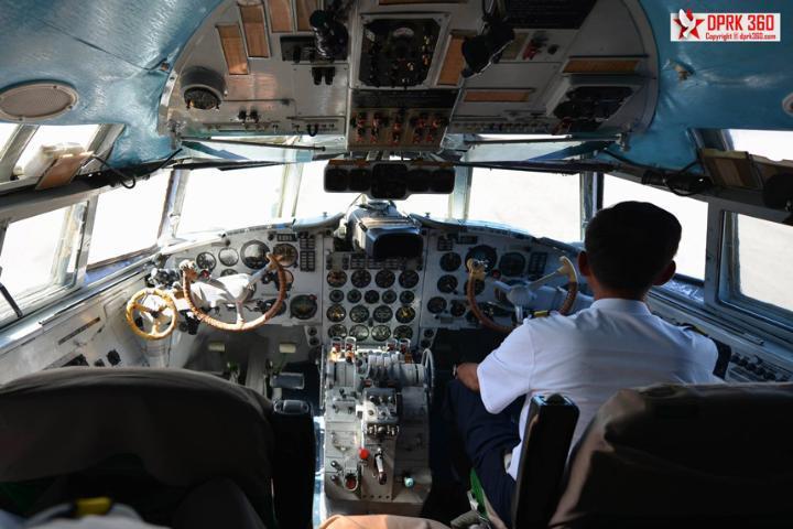 The cockpit of an Air Koryo aircraft. Credit: ARAM PAN