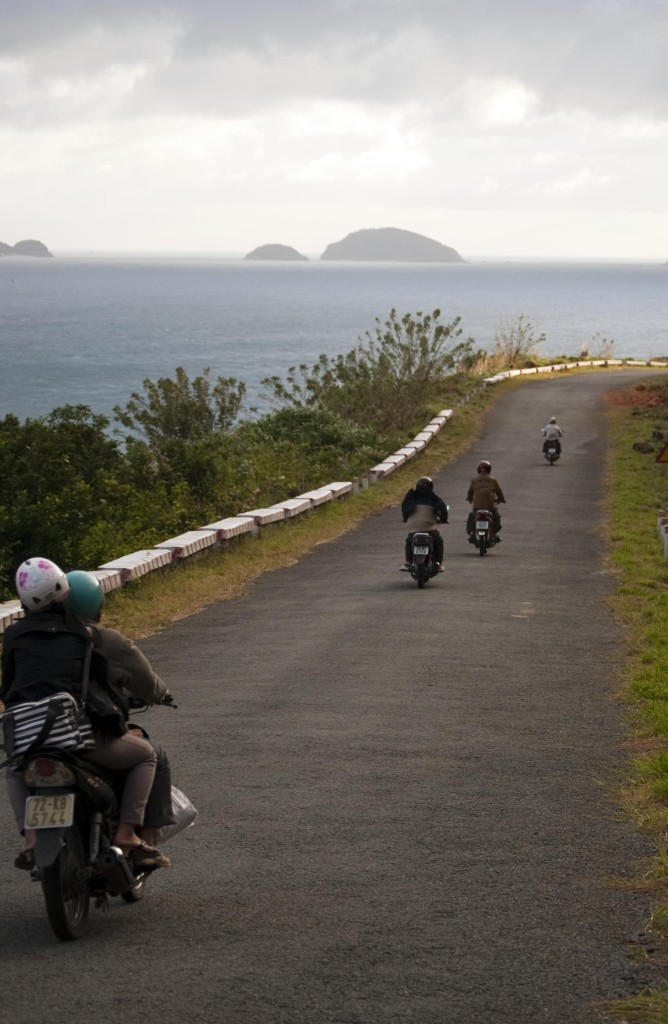 Riding among stunning sea sights of Con Dao to enjoy the feeling of being immersed in nature. Photo: Duncan Jefferies