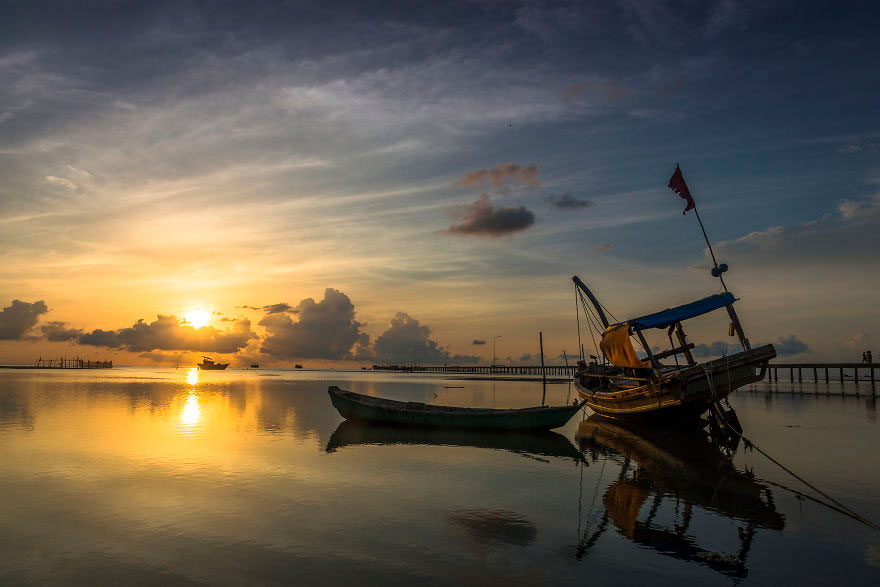 Peaceful Sunrise at Ham Ninh Fishing Village