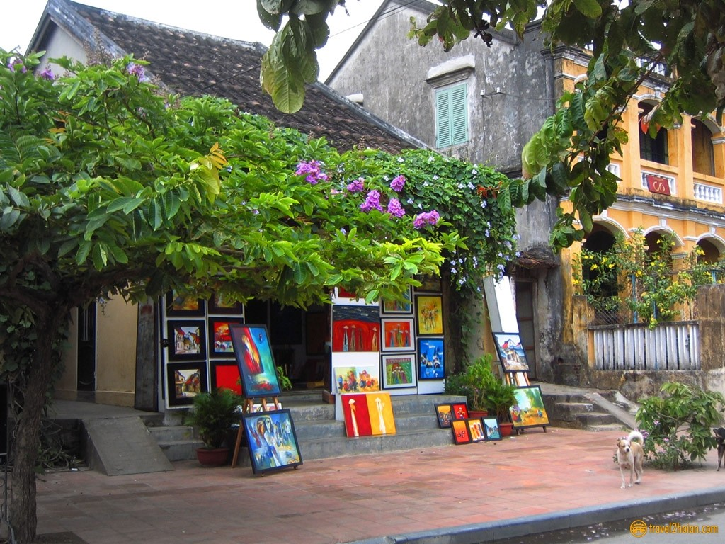 A painting shop in Hoi An