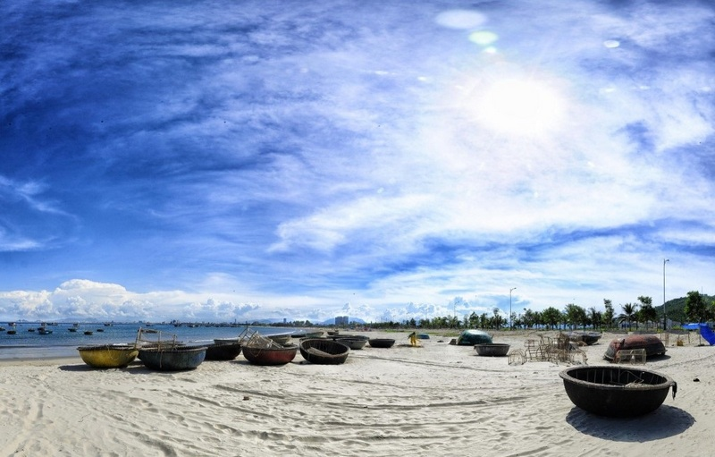 An angle of a photo of My Khe beach, Danang. Photo: Quang Vu