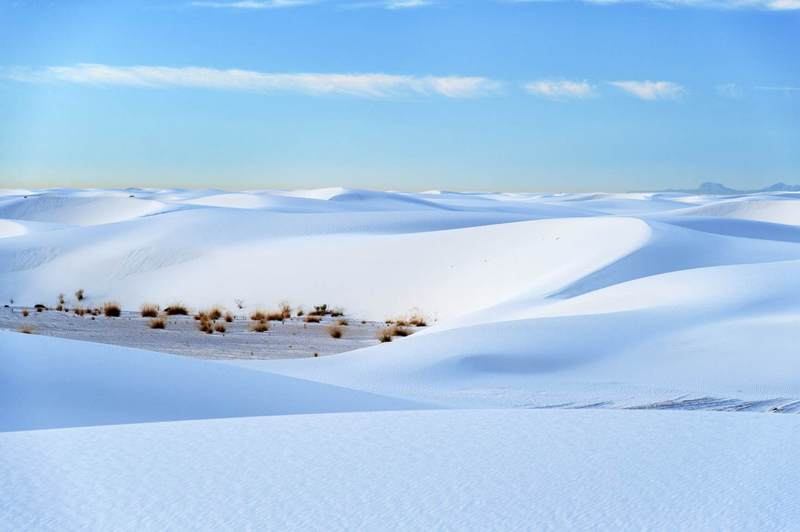 The strange white dunes of White Sands National Monument © Justin Foulkes / Lonely Planet