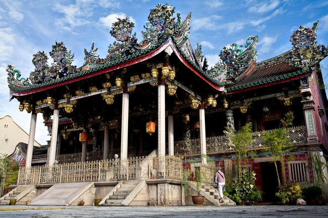 A temple building at Khoo Kongsi, which also has a fine museum.