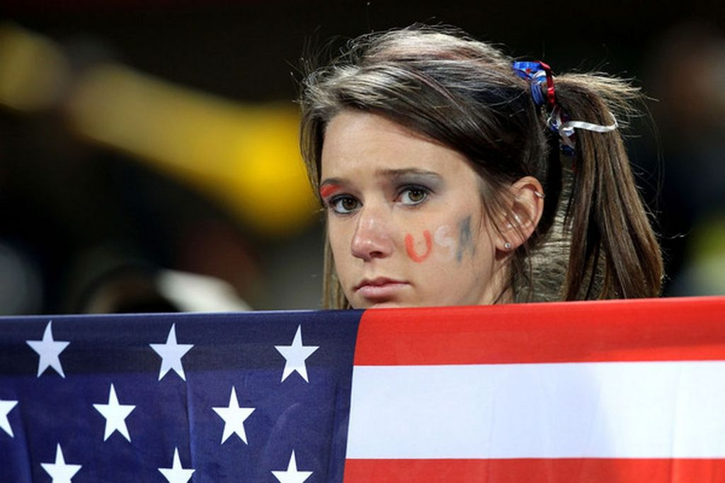 A sad US soccer fan