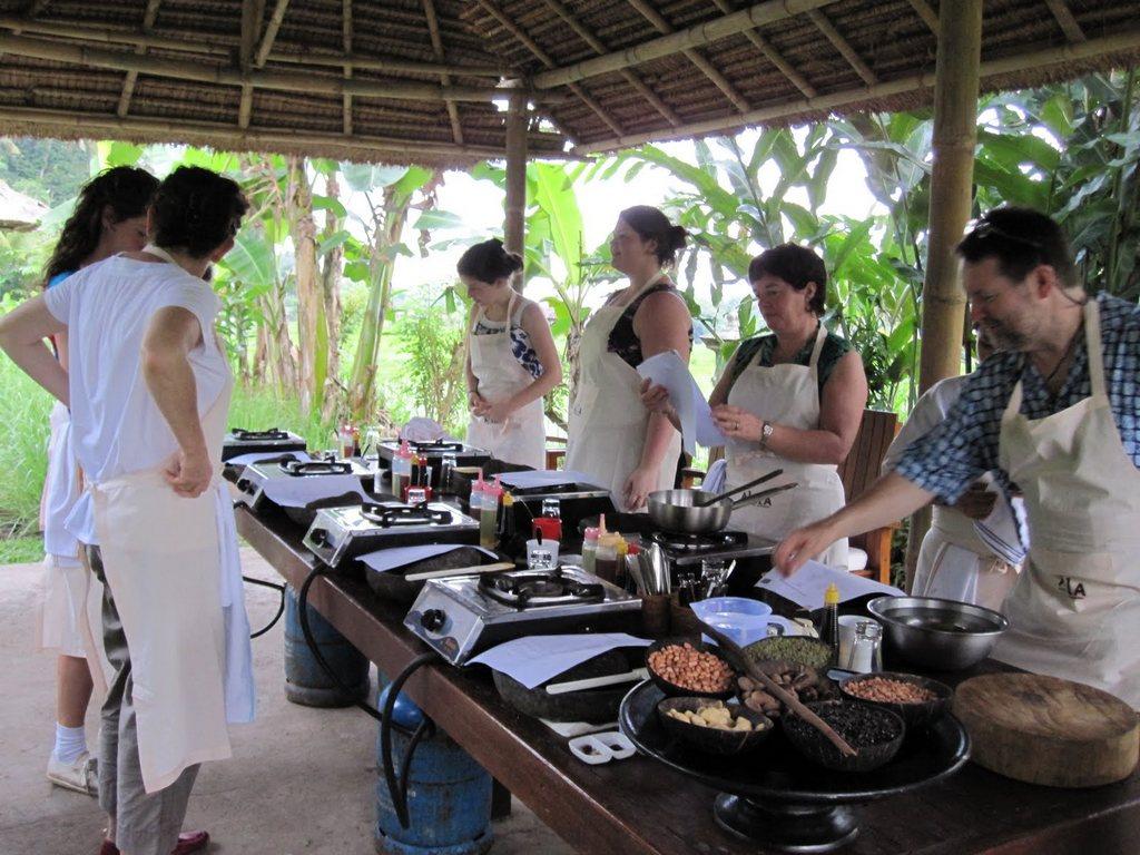 Balinese organic cooking