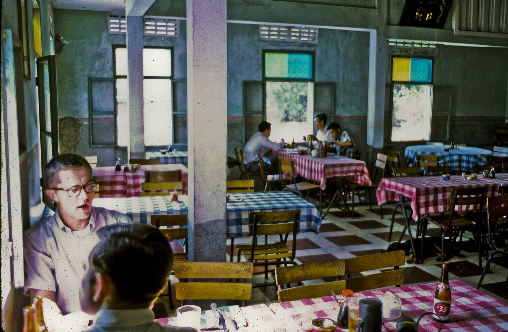 Cuu Long Restaurant in My Tho — 1969 Captain Kozak, Luetenant Short and I had a nice Chinese lunch here. (Dinh Tuong Province in Vietnam's Mekong Delta)
