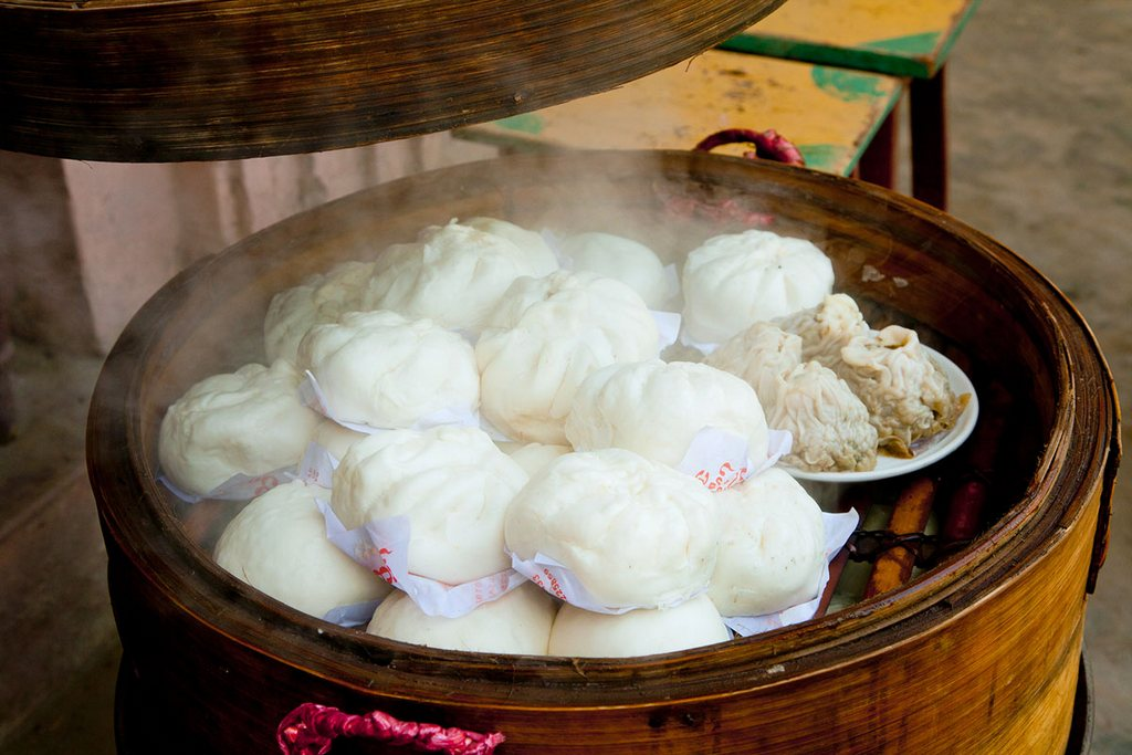 A dumpling for breakfast in Myanmar. Why not? Photo: annabellebreakey