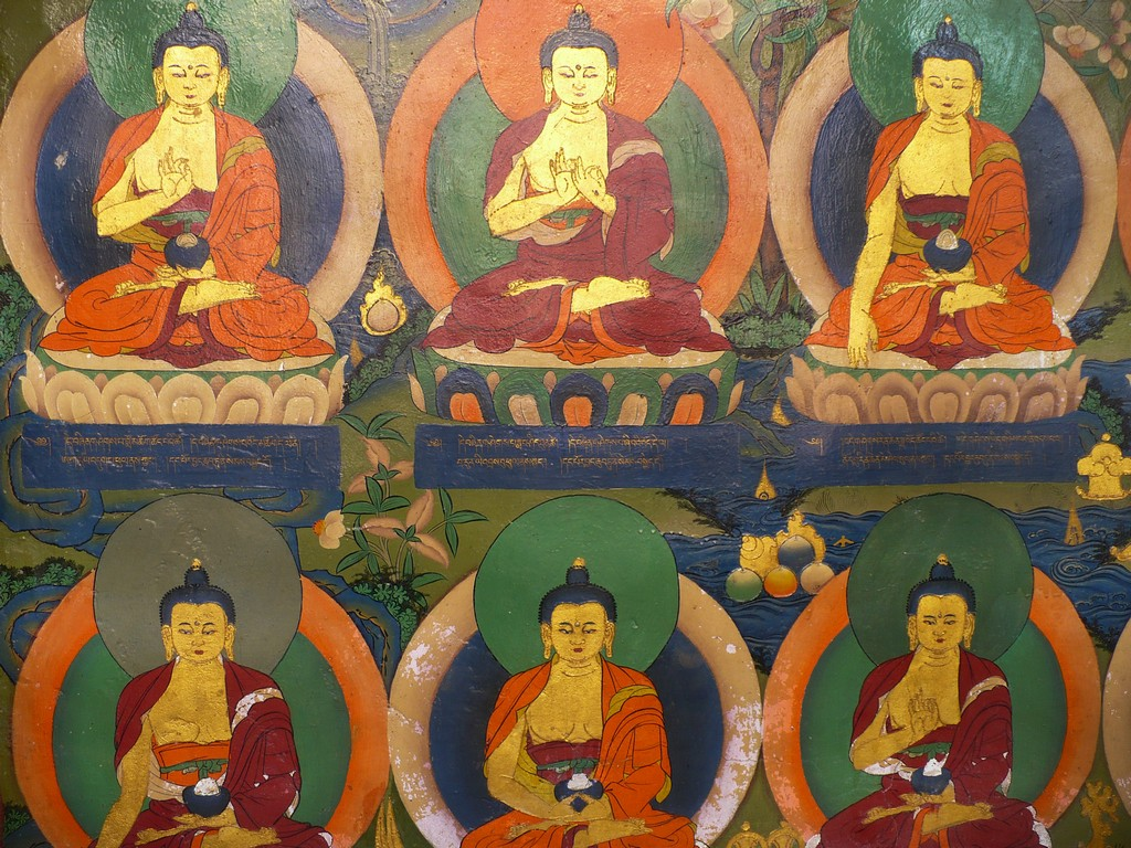 Each seated pose of the Buddha carries a different meaning
