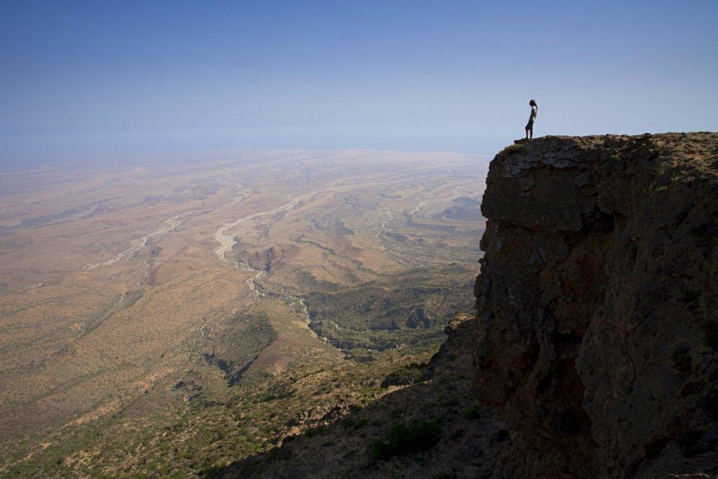 Explore otherworldly landscapes in Oman.
