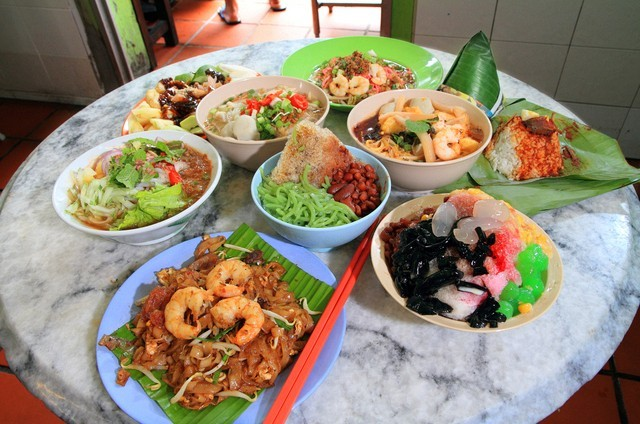 Food in town of Penang