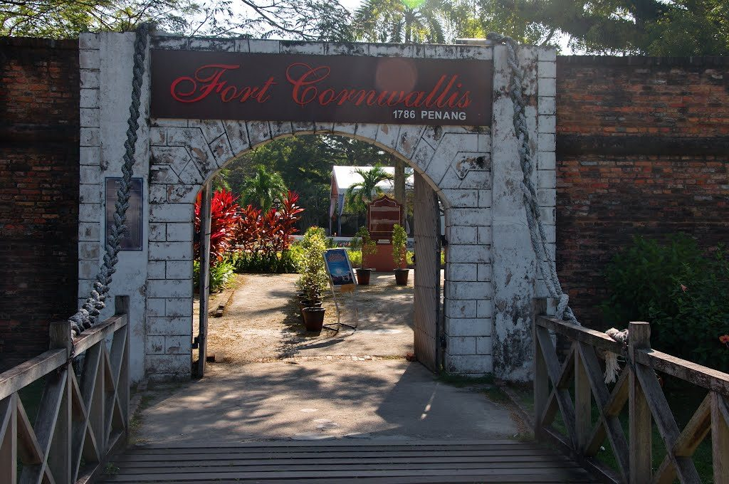 Entrance to Fort Cornwallis. Source: panoramio.com.