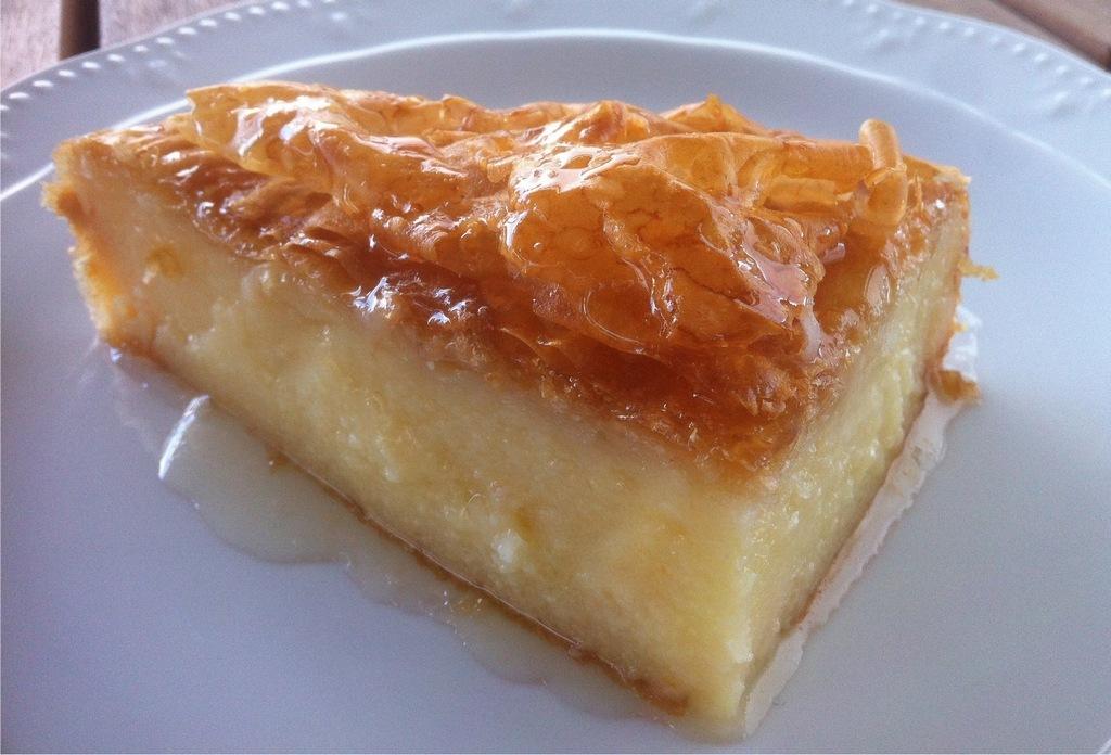 GALAKTOBOUREKO-greek dish