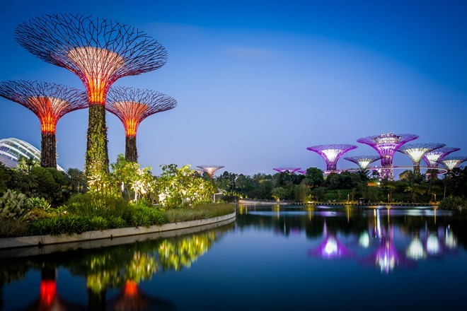 Gardens by the Bay - symbol of singapore tourist attractions