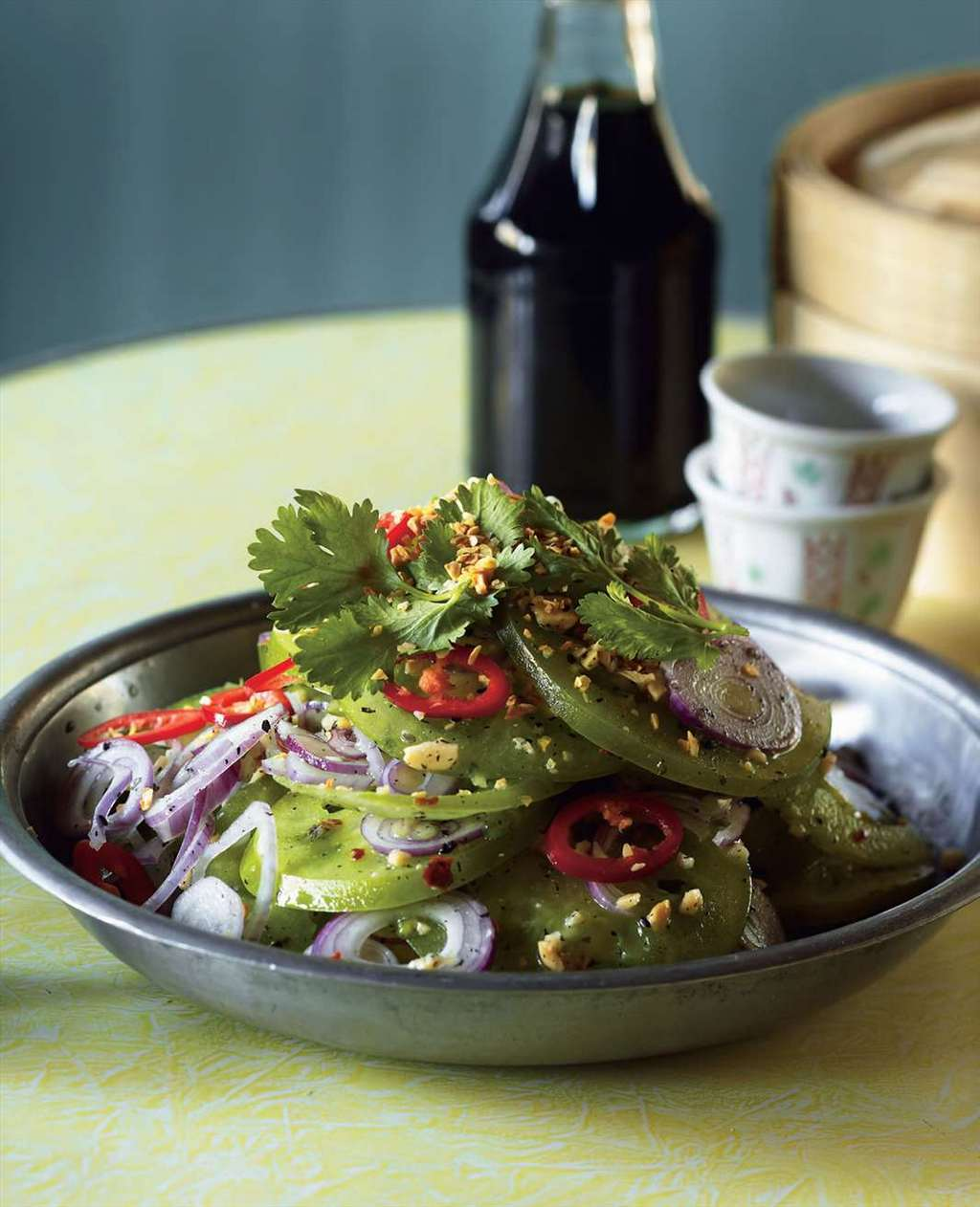 Green tomato salad - typical kind of salad at Inle Lake, Myanmar Photo: cooked.com