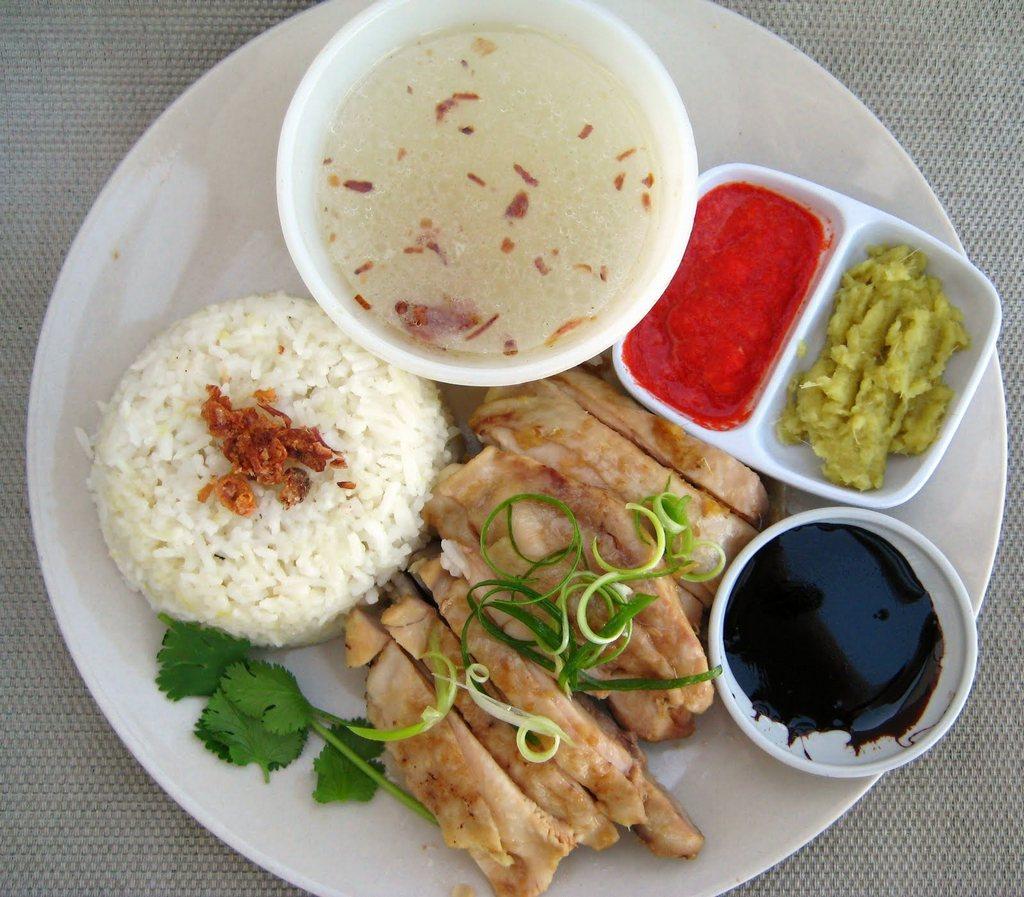 Hainaese chicken rice