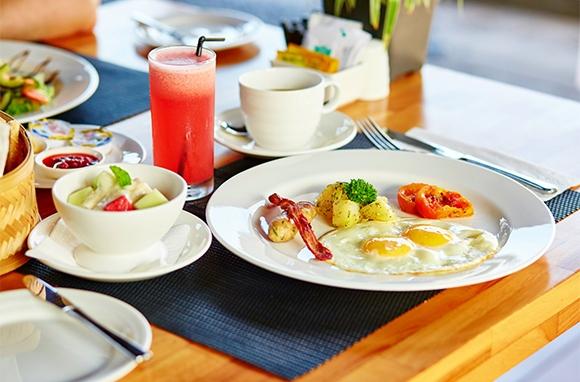 Having breakfast each day
