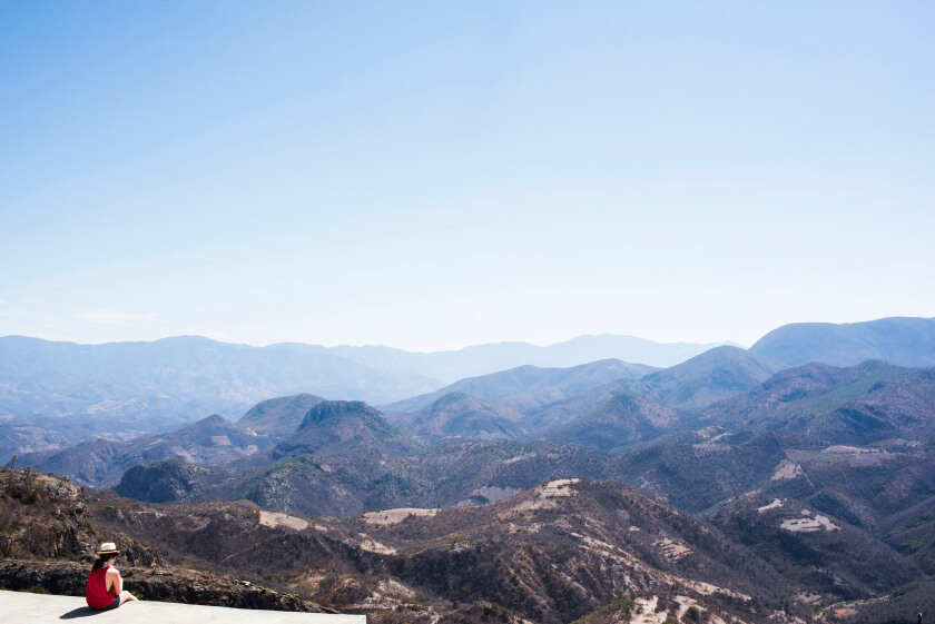 The stunning view from the top of Herve el Agua.