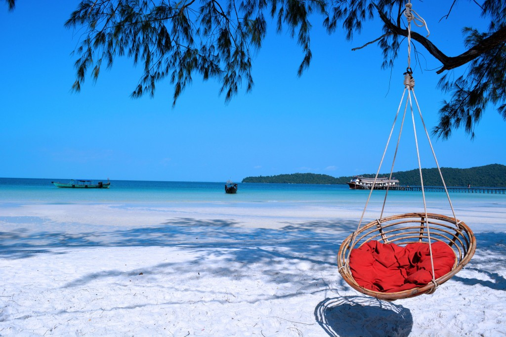 Koh Rong Island with pristine white sand and blue clear water Photo: Ben Bruce