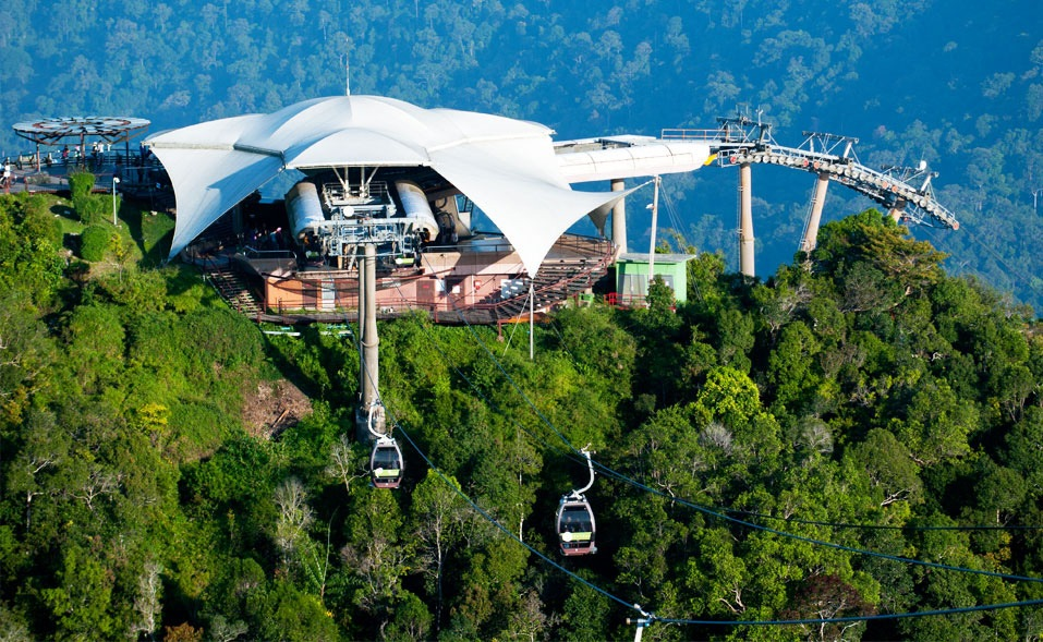 Langkawi cable car. Source: naturallylangkawi.my.