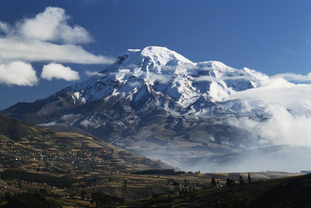 Mighty Chimborazo looms over Riobamba, Ecuador.