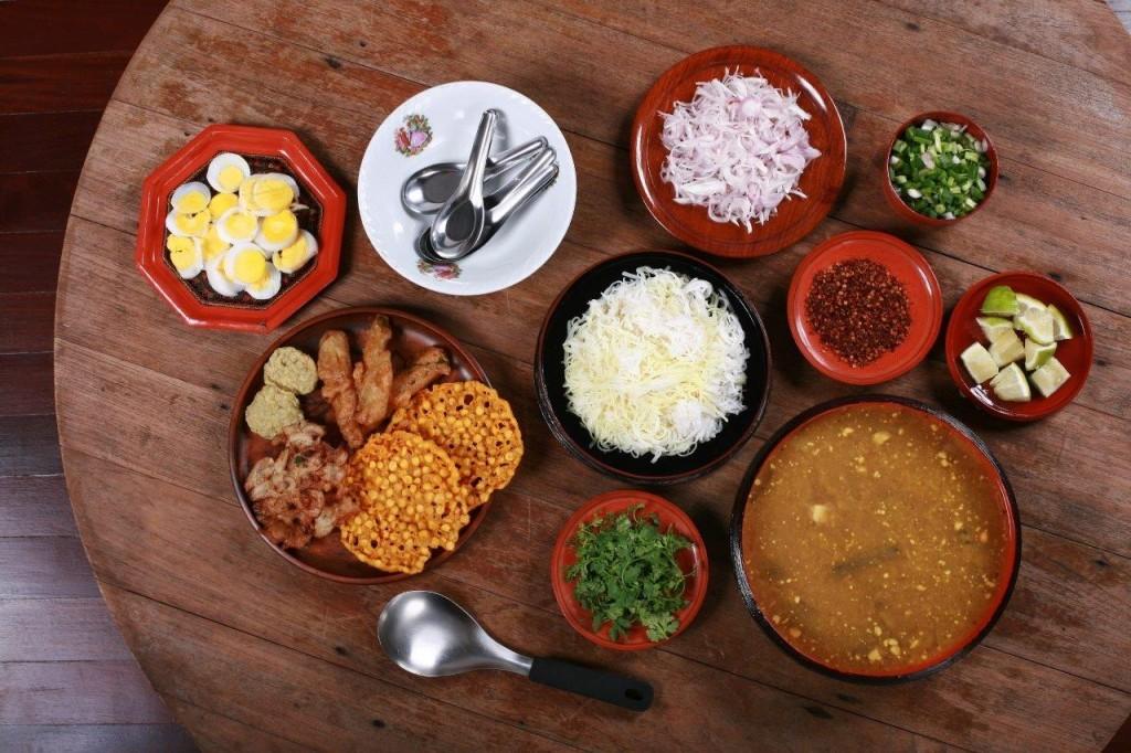 The ingredients for Mohinga Photo: myanmarfoodandtravel