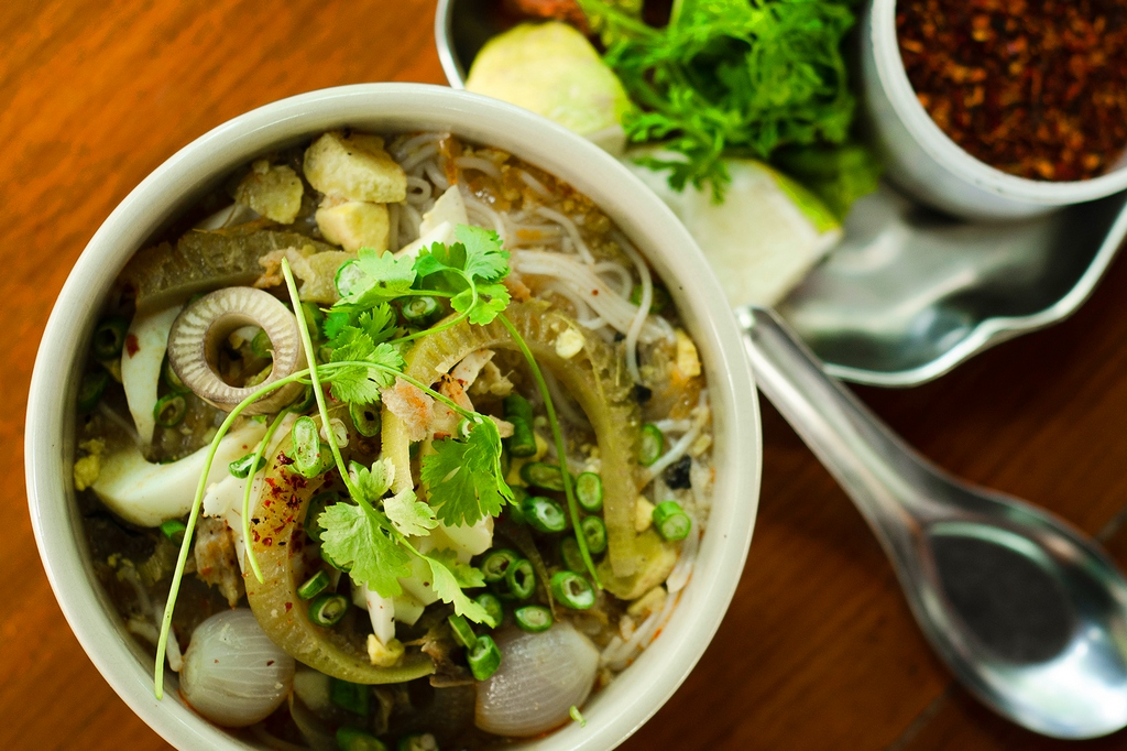 Mohinga fish noodle is a perfect suggestion for breakfast Photo: sbs