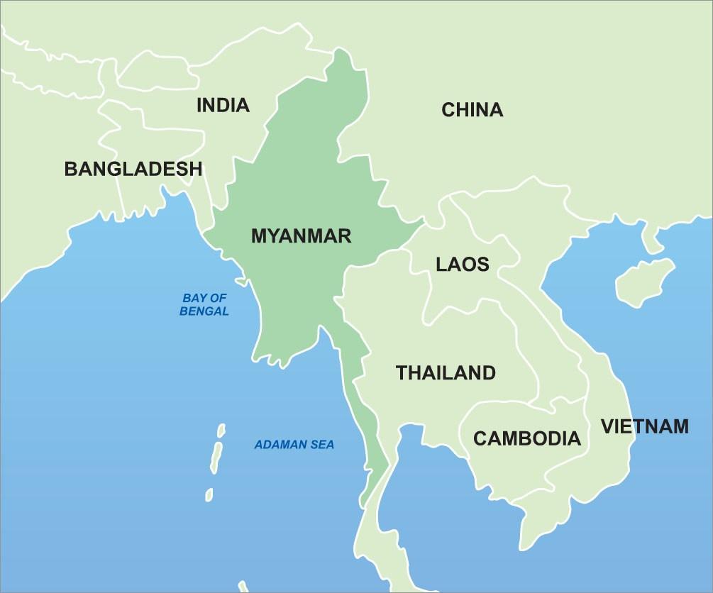 Myanmar-Asia-Map