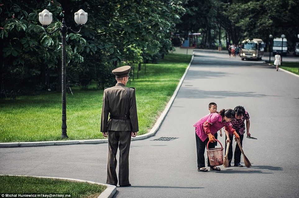 North Korea - the keen eye of a Pyongyang soldier