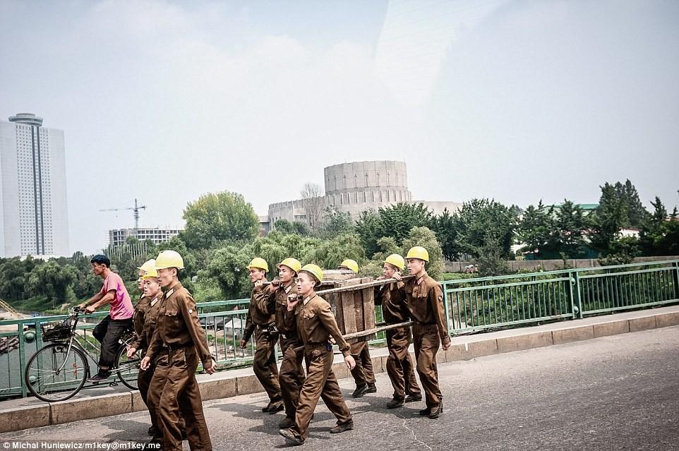 North Korea workers