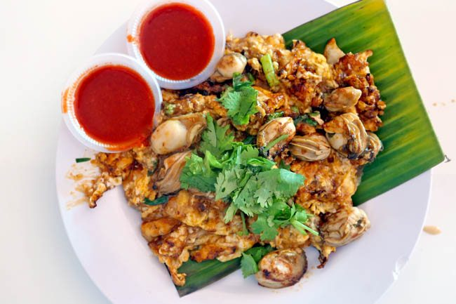 Penang's Oh Chien – potato starch fried with eggs and oysters.