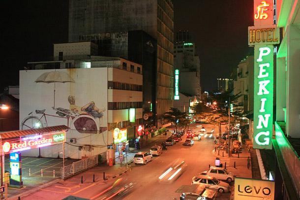 """The Awaiting Trishaw Paddler"" Mural, Penang Road, George Town, Penang"