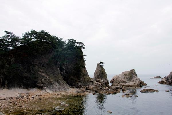 Rocky cliffs Yamagata Japan