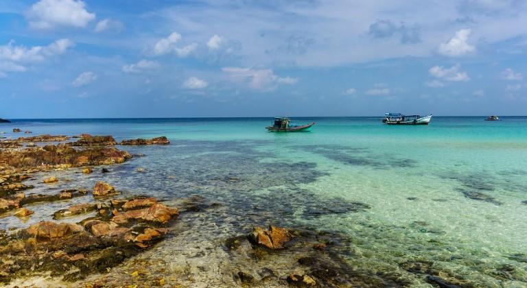 Rocky reef on Nam Du islands