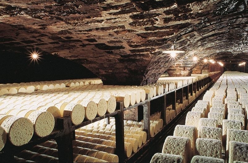 Roquefort's cheese cave