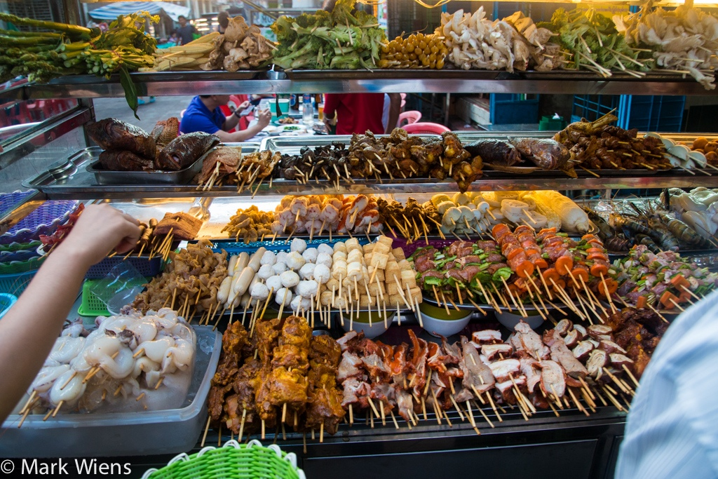 The variety of street food in Myanmar Photo: migrationology