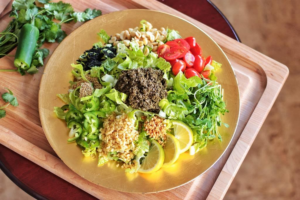 The ingredients to make the well-known tea leaf salad Photo: photobucket