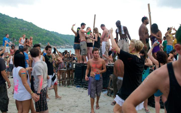 Thailand's Full Moon Party is popular with travellers CREDIT ALAMY