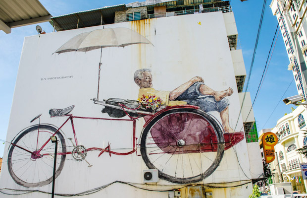 The Awaiting Trishaw Paddler by Desmond Yeo