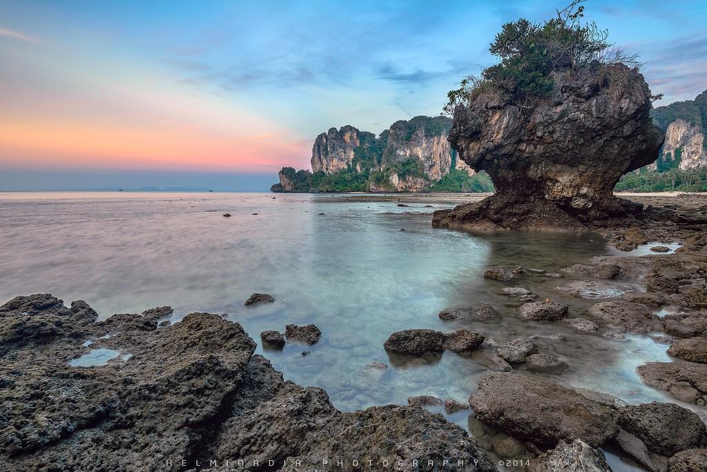 The bleak landscape yet very attractive to tourists in Krabi Photo: Helminadia Ranford