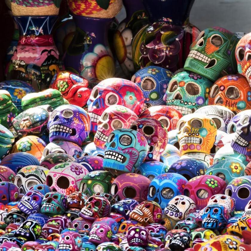 The colourful artwork found around Oaxaca.
