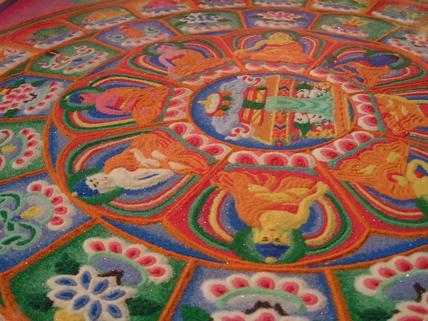 The impermanence of the sand mandala is kind of the point