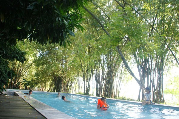 Triem Tay Hoi An travel guides - pool among bamboo