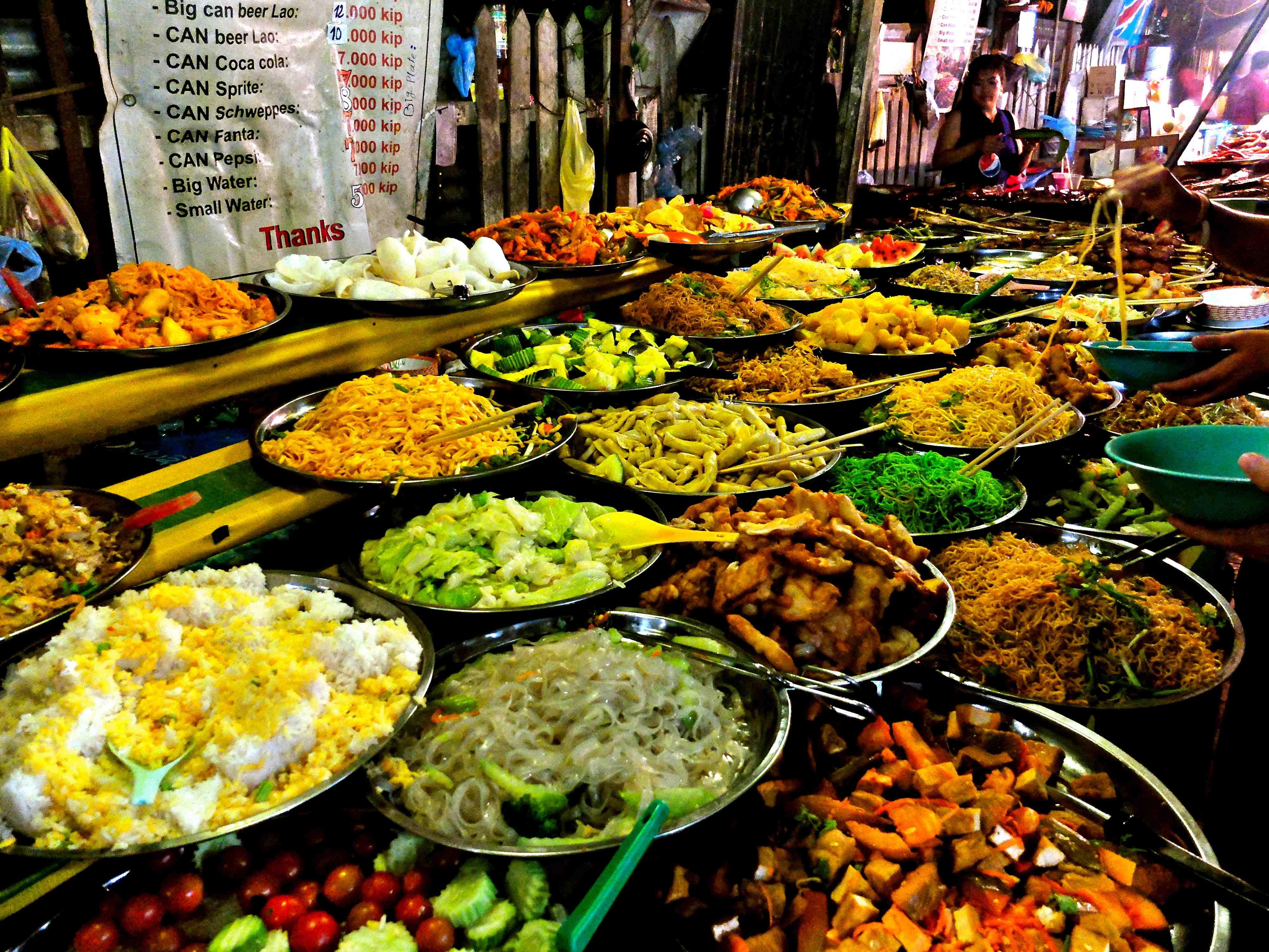 Vegetarian Buffet in Luang Prabang